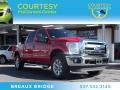 2012 Vermillion Red Ford F250 Super Duty Lariat Crew Cab 4x4  photo #1