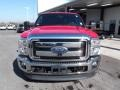 2012 Vermillion Red Ford F250 Super Duty Lariat Crew Cab 4x4  photo #2