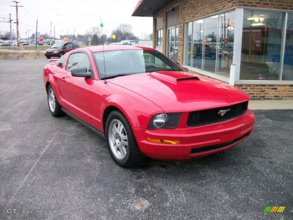 2007 Mustang V6 Premium Coupe - Torch Red / Dark Charcoal photo #1