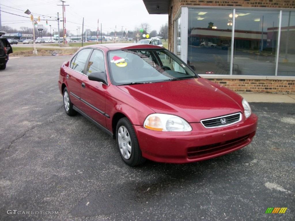 1998 Inza Red Pearl Honda Civic Lx Sedan  74925645