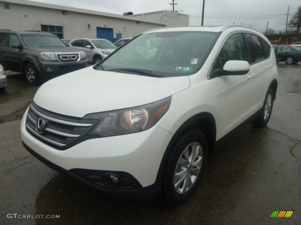 2013 CR-V EX-L AWD - White Diamond Pearl / Black photo #8