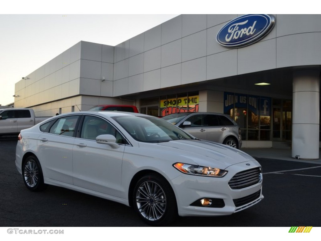 Ford Fusion Ecoboost 2013 >> 2013 Oxford White Ford Fusion SE 2.0 EcoBoost #74973276 | GTCarLot.com - Car Color Galleries