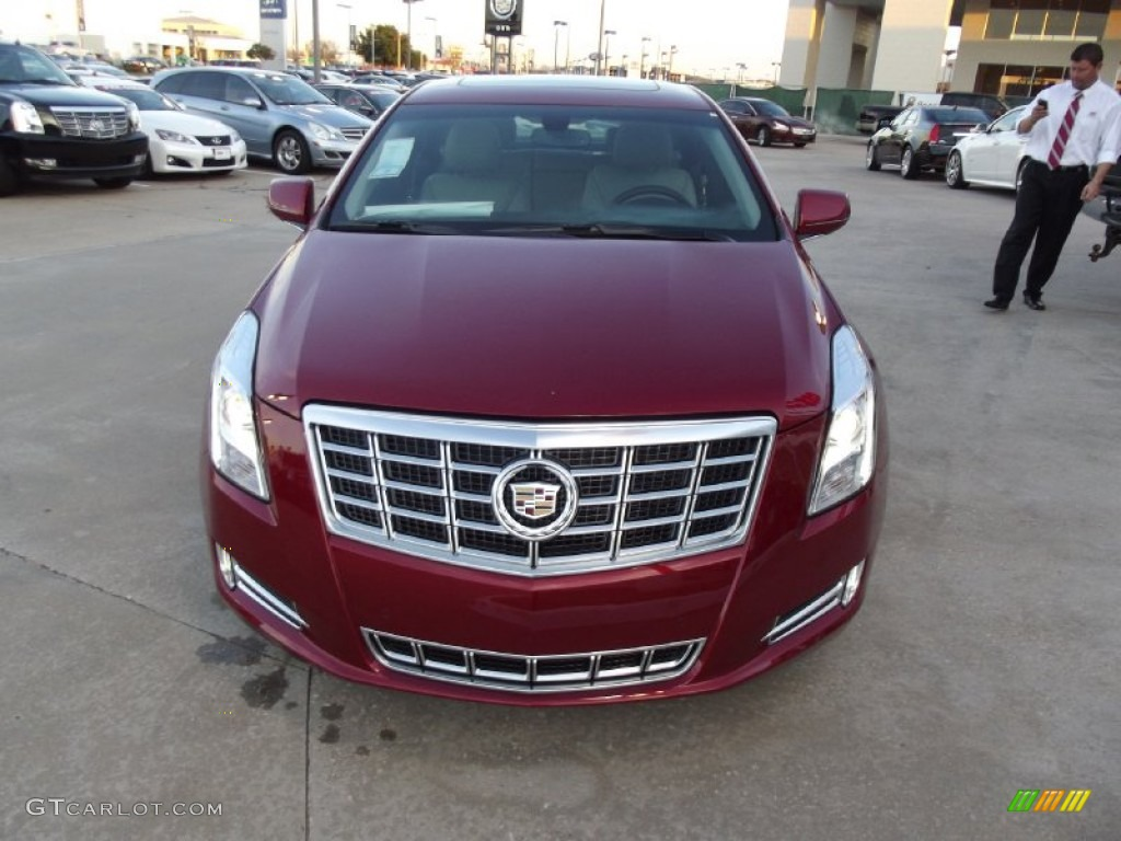 Crystal Red Tintcoat 2013 Cadillac Xts Luxury Fwd Exterior Photo 74995761