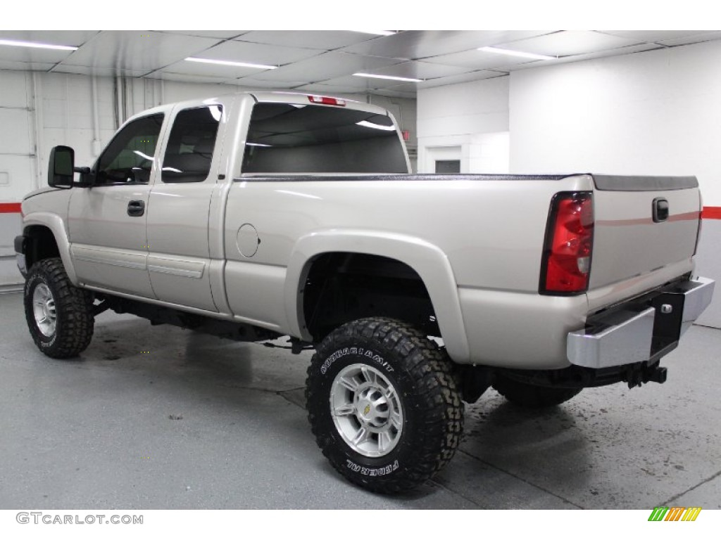 silver birch metallic 2006 chevrolet silverado 2500hd lt extended cab 4x4 exterior photo. Black Bedroom Furniture Sets. Home Design Ideas
