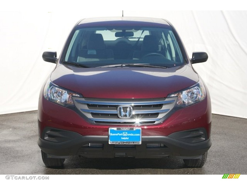 2013 CR-V LX - Basque Red Pearl II / Gray photo #2