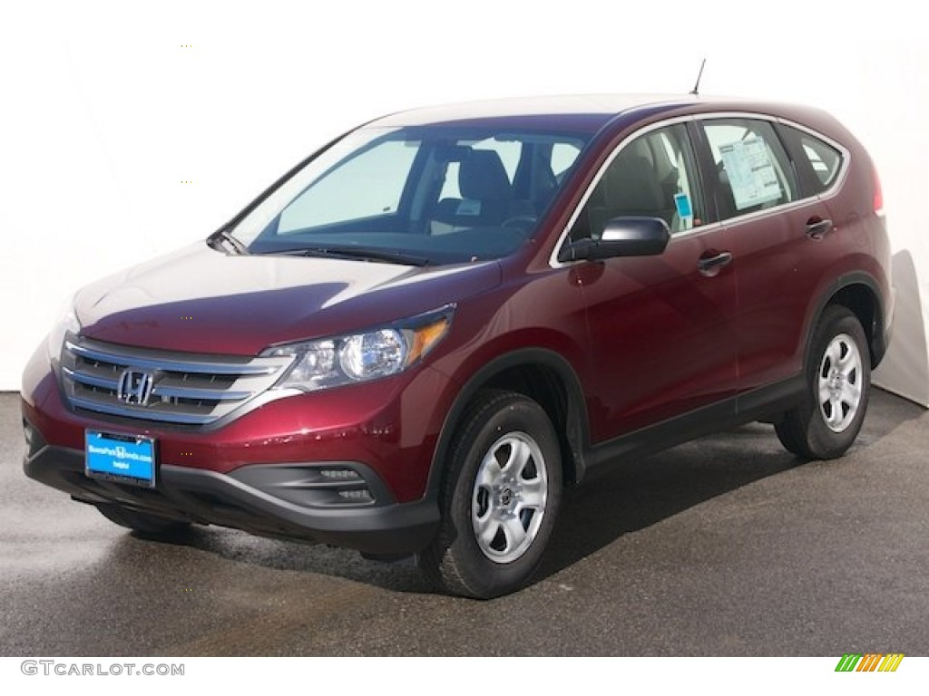 2013 CR-V LX - Basque Red Pearl II / Gray photo #3