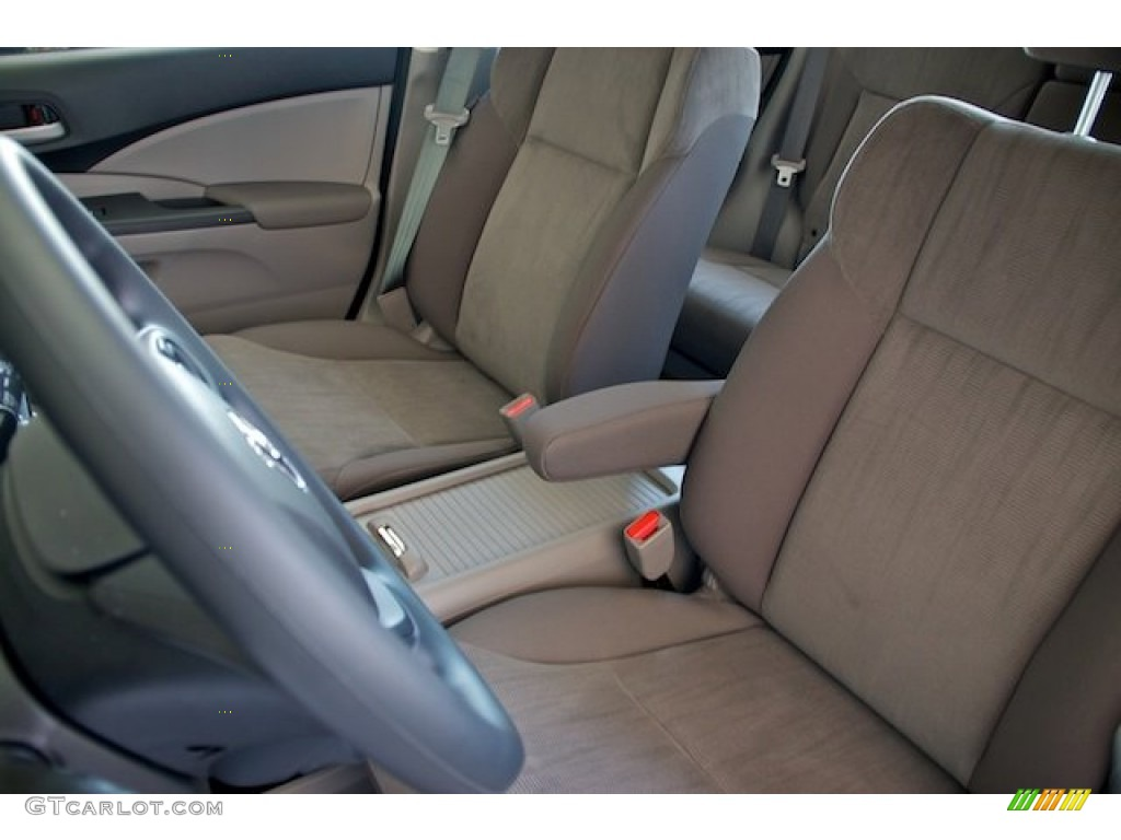 2013 CR-V LX - Basque Red Pearl II / Gray photo #11