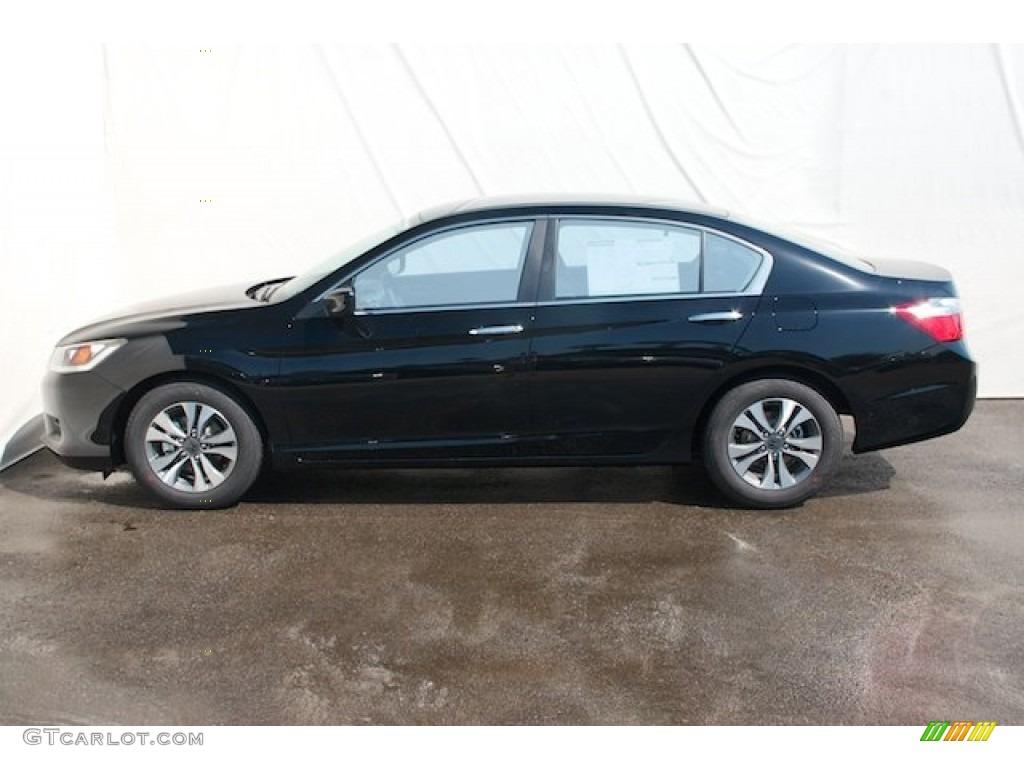 Crystal black pearl 2013 honda accord lx sedan exterior for 2013 honda accord coupe lx s