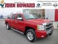 2009 Victory Red Chevrolet Silverado 1500 LT Z71 Crew Cab 4x4  photo #1