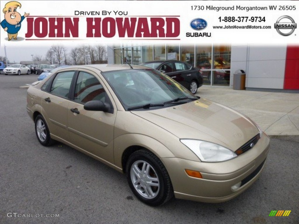 2001 jackpot gold metallic ford focus se sedan 75021490 car color galleries. Black Bedroom Furniture Sets. Home Design Ideas