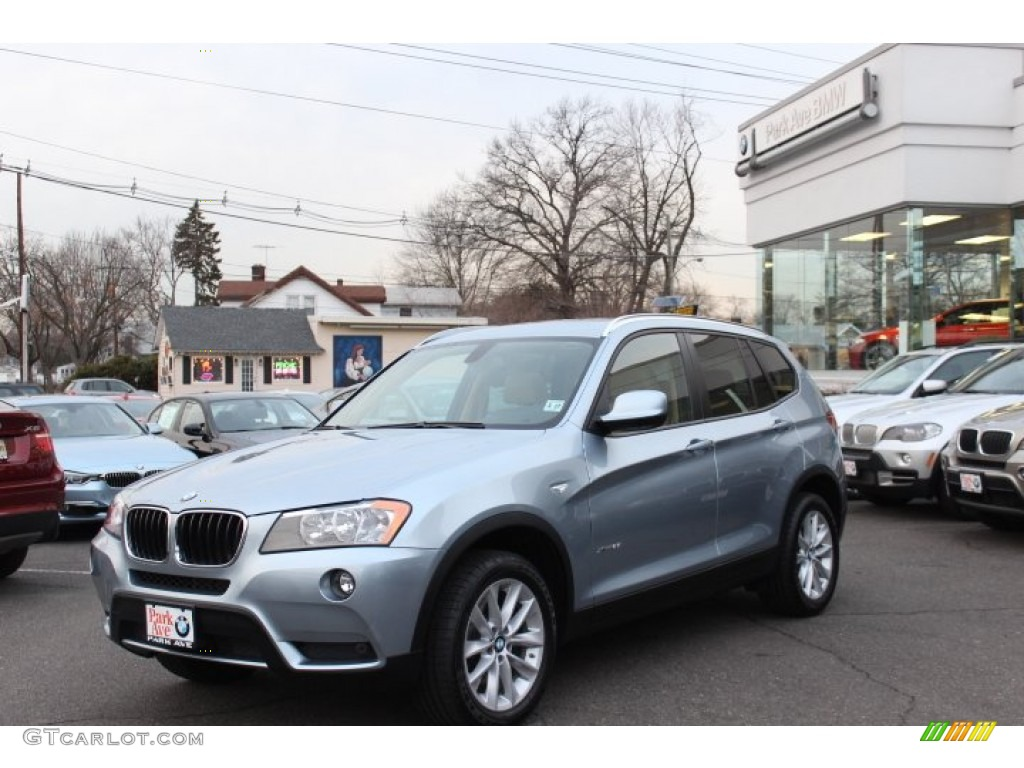 2013 Blue Water Metallic Bmw X3 Xdrive 28i 75021125
