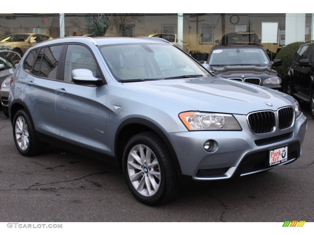 Blue Water Metallic 2013 Bmw X3 Xdrive 28i Exterior Photo