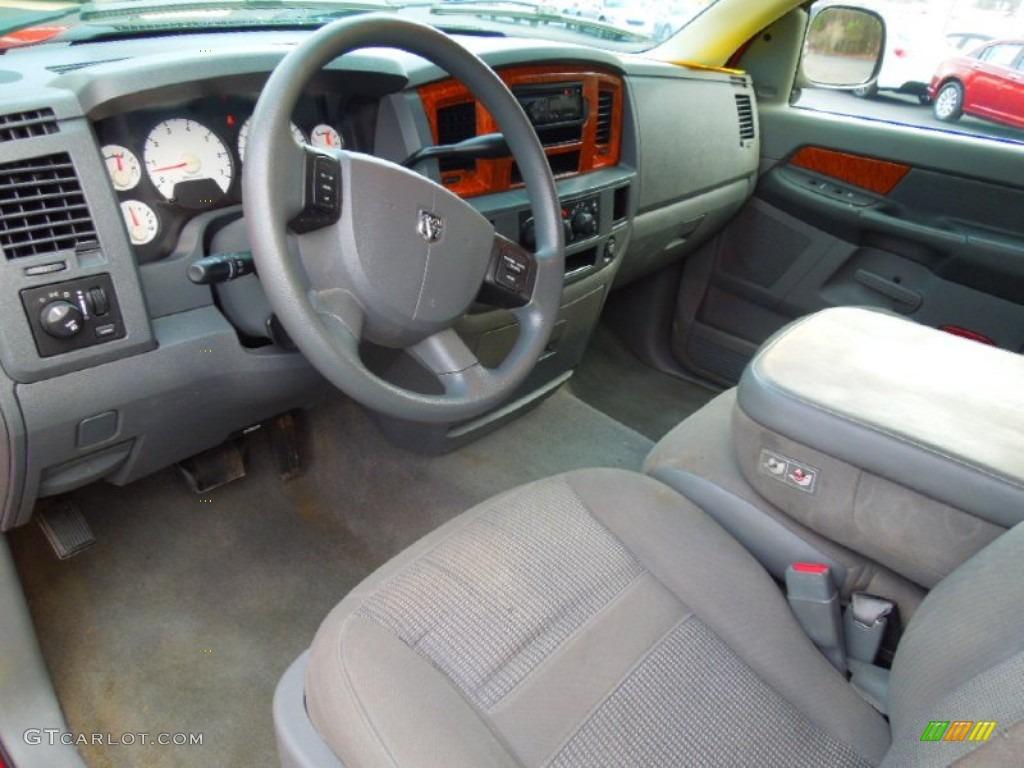 Medium Slate Gray Interior 2006 Dodge Ram 1500 Slt Quad Cab Photo 75053953