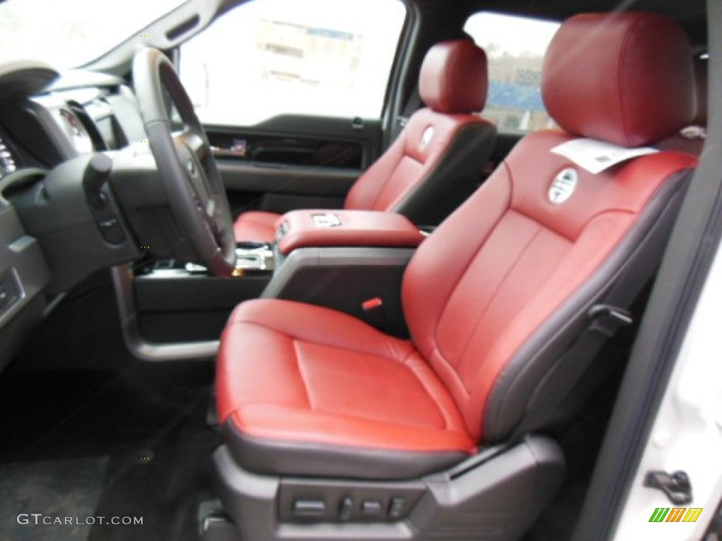 limited unique red leather interior  ford  limited supercrew  photo