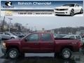 2013 Deep Ruby Metallic Chevrolet Silverado 1500 LT Crew Cab 4x4  photo #1