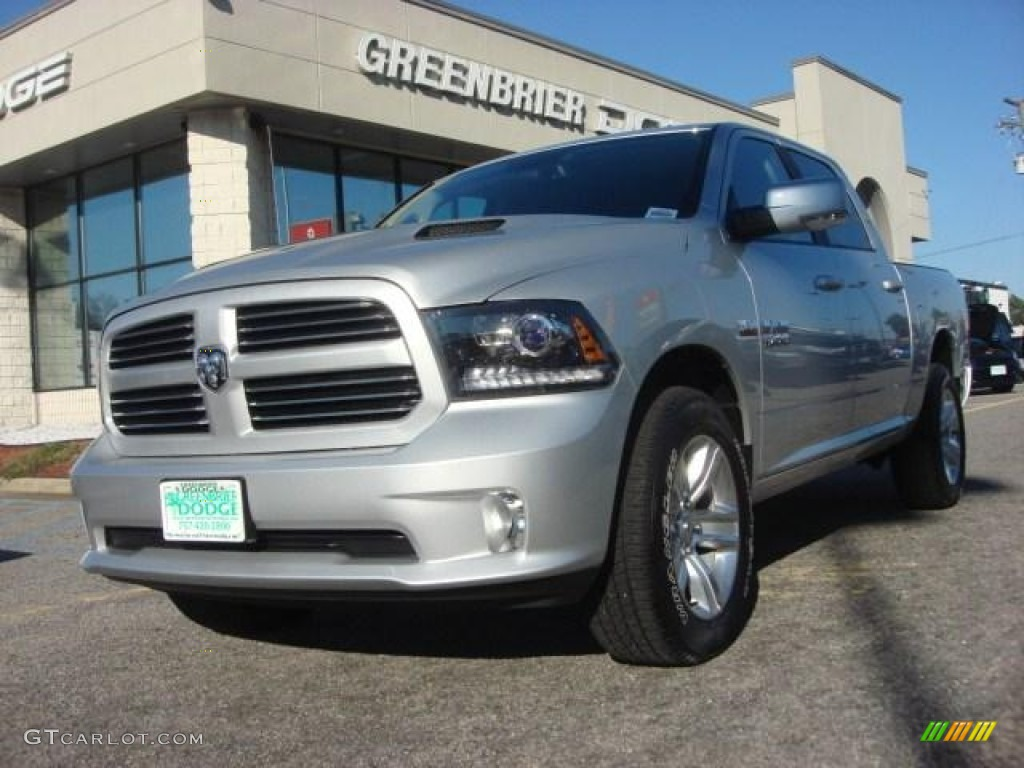 2013 bright silver metallic ram 1500 sport crew cab 4x4 75073802 car color. Black Bedroom Furniture Sets. Home Design Ideas
