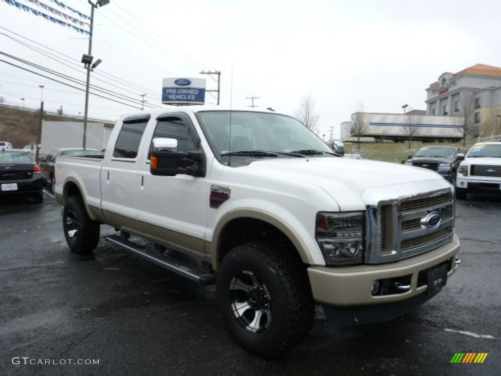 2010 white platinum tri coat ford f250 super duty king ranch crew cab 4x4 75073901 gtcarlot. Black Bedroom Furniture Sets. Home Design Ideas