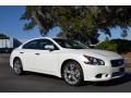 Winter Frost White 2012 Nissan Maxima Gallery