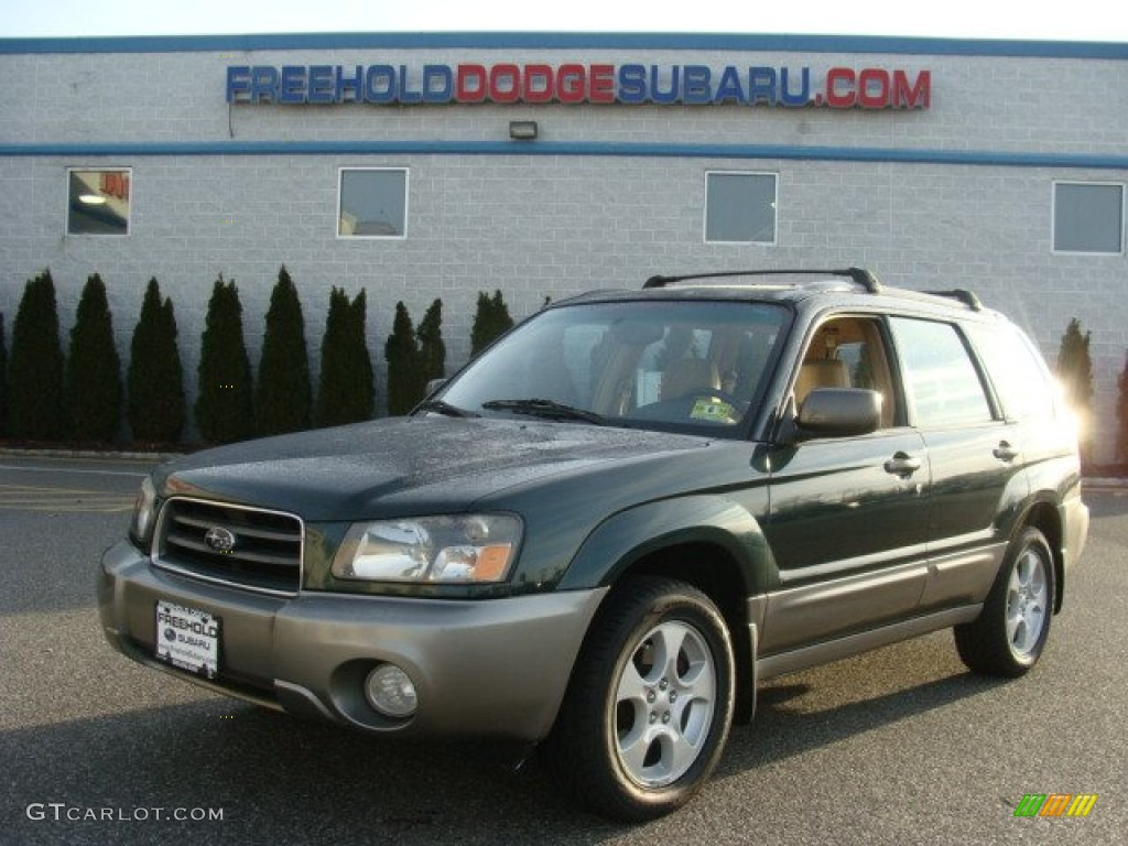 2003 forester 2 5 xs woodland green pearl gray photo 1