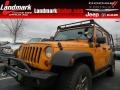 2012 Dozer Yellow Jeep Wrangler Unlimited Rubicon 4x4 #75168819
