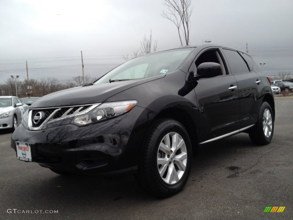 2011 Murano S AWD - Super Black / Black photo #1