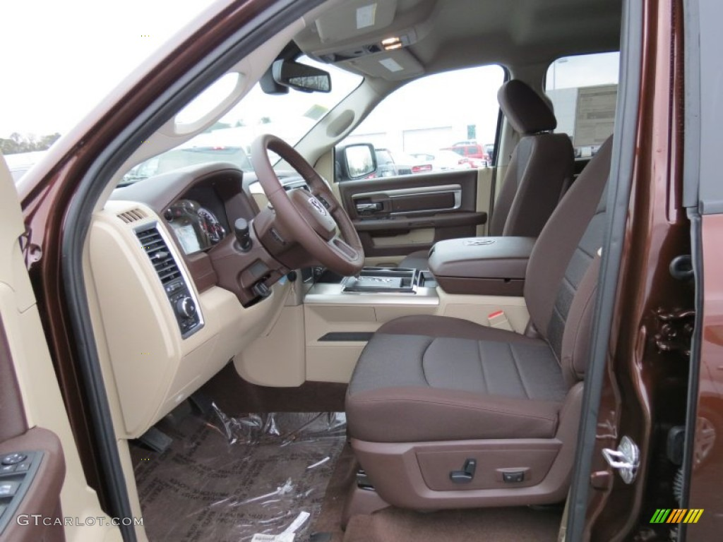 canyon brown light frost beige interior 2013 ram 1500 big horn crew cab photo 75171087. Black Bedroom Furniture Sets. Home Design Ideas