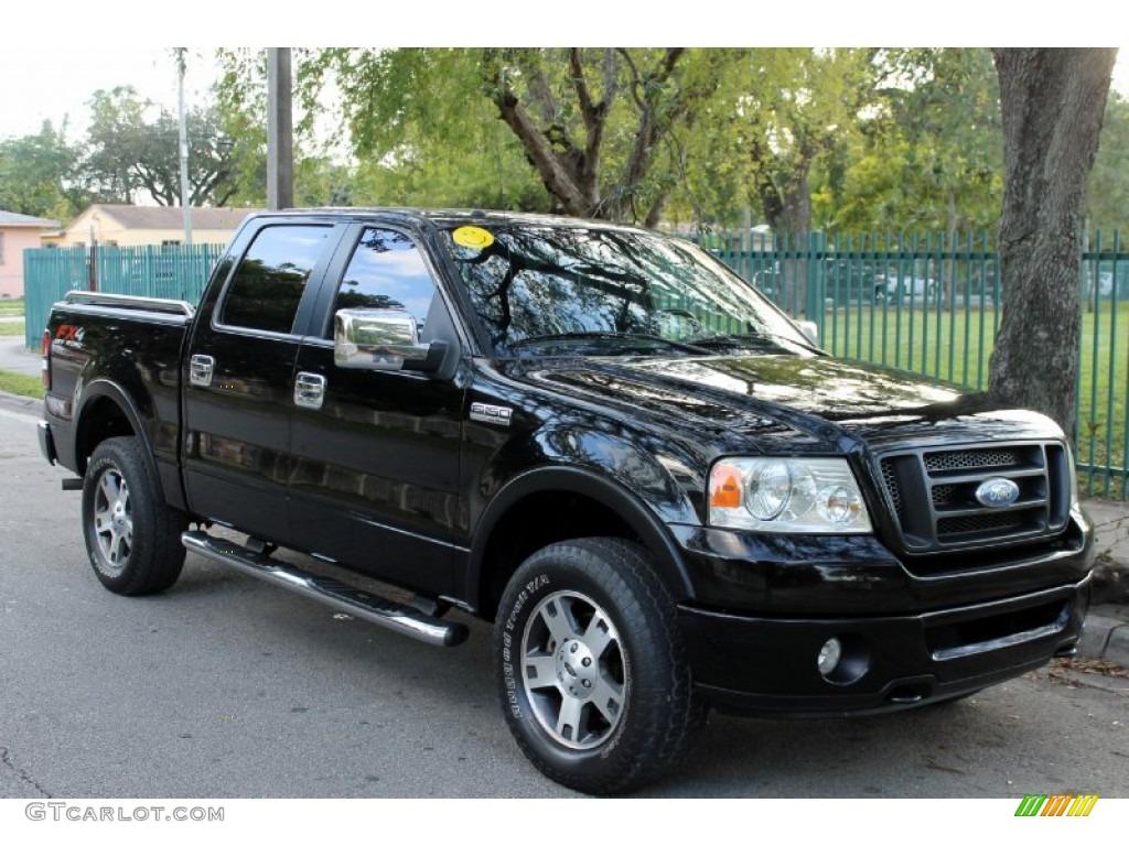 Black 2006 Ford F150 Fx4 Supercrew 4x4 Exterior Photo 75189335 Gtcarlot Com