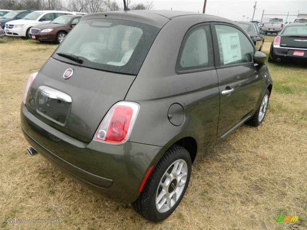 Verde Oliva Olive Green 2013 Fiat 500 Pop Exterior Photo