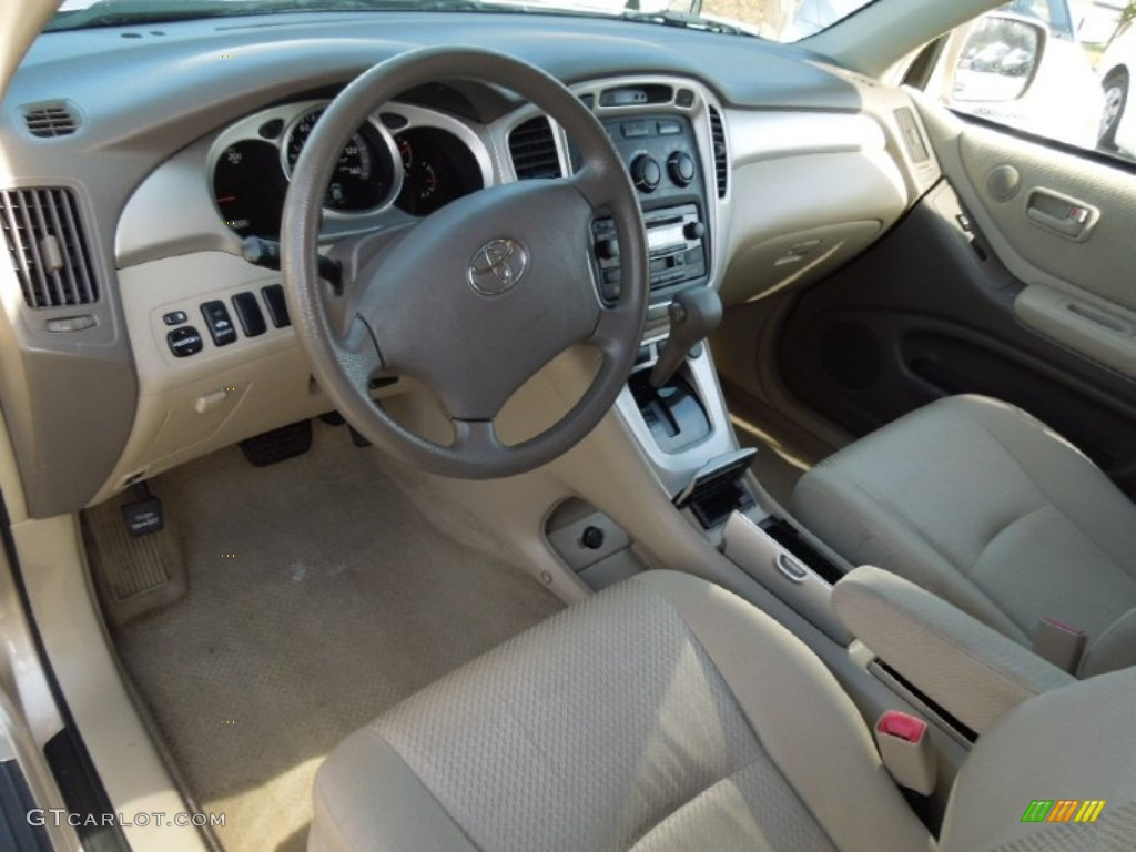 ivory beige interior 2007 toyota highlander hybrid photo 75217229. Black Bedroom Furniture Sets. Home Design Ideas