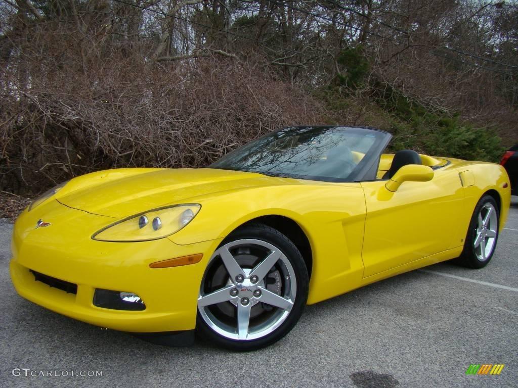 2006 velocity yellow chevrolet corvette convertible 7505788 car color galleries. Black Bedroom Furniture Sets. Home Design Ideas
