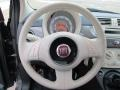 Tessuto Rosso/Avorio (Red/Ivory) 2012 Fiat 500 Pop Steering Wheel