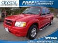 Bright Red 2005 Ford Explorer Sport Trac Adrenalin