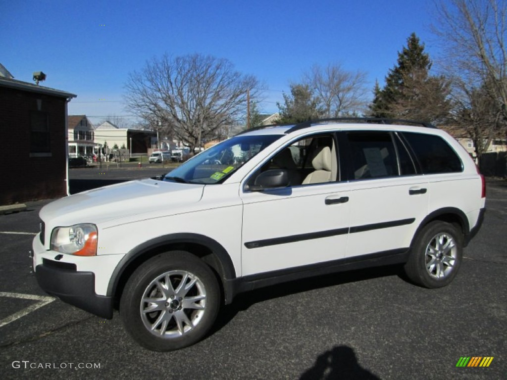 2005 ice white volvo xc90 t6 awd 75227047. Black Bedroom Furniture Sets. Home Design Ideas