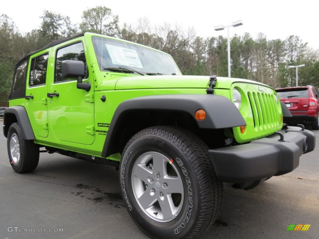 gecko green pearl 2013 jeep wrangler unlimited sport s 4x4 exterior photo 75246216. Black Bedroom Furniture Sets. Home Design Ideas