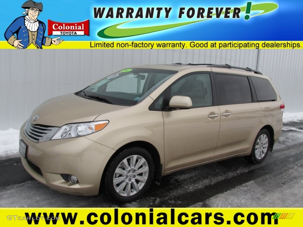 2012 Sienna Limited AWD - Sandy Beach Metallic / Bisque photo #1