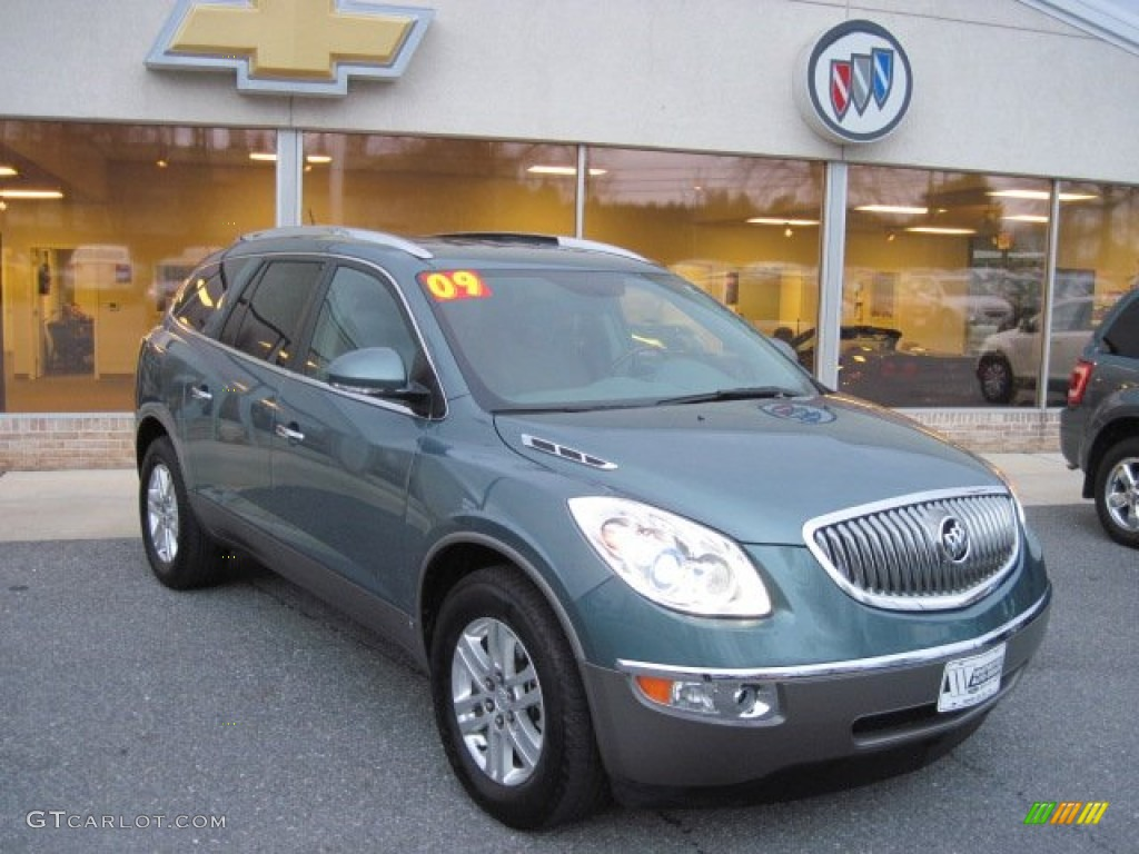 2009 Enclave CX - Silver Green Metallic / Cocoa/Cashmere photo #1