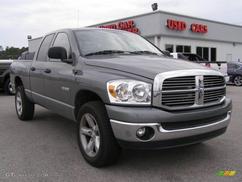 2008 Ram 1500 Big Horn Edition Quad Cab 4x4 - Mineral Gray Metallic / Medium Slate Gray photo #1