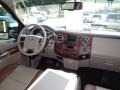2009 Ford F250 Super Duty Medium Stone/Dark Rust Interior Dashboard Photo