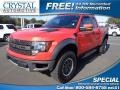 Molten Orange Tri Coat 2010 Ford F150 SVT Raptor SuperCab 4x4