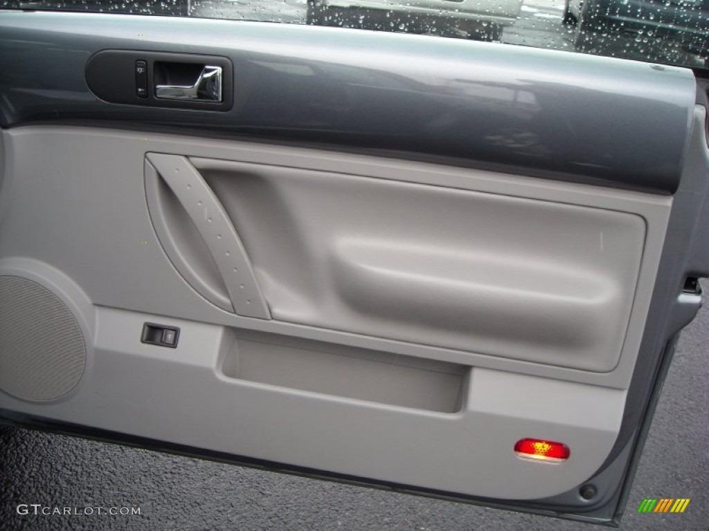 2004 Volkswagen New Beetle Gls 1 8t Convertible Gray Door