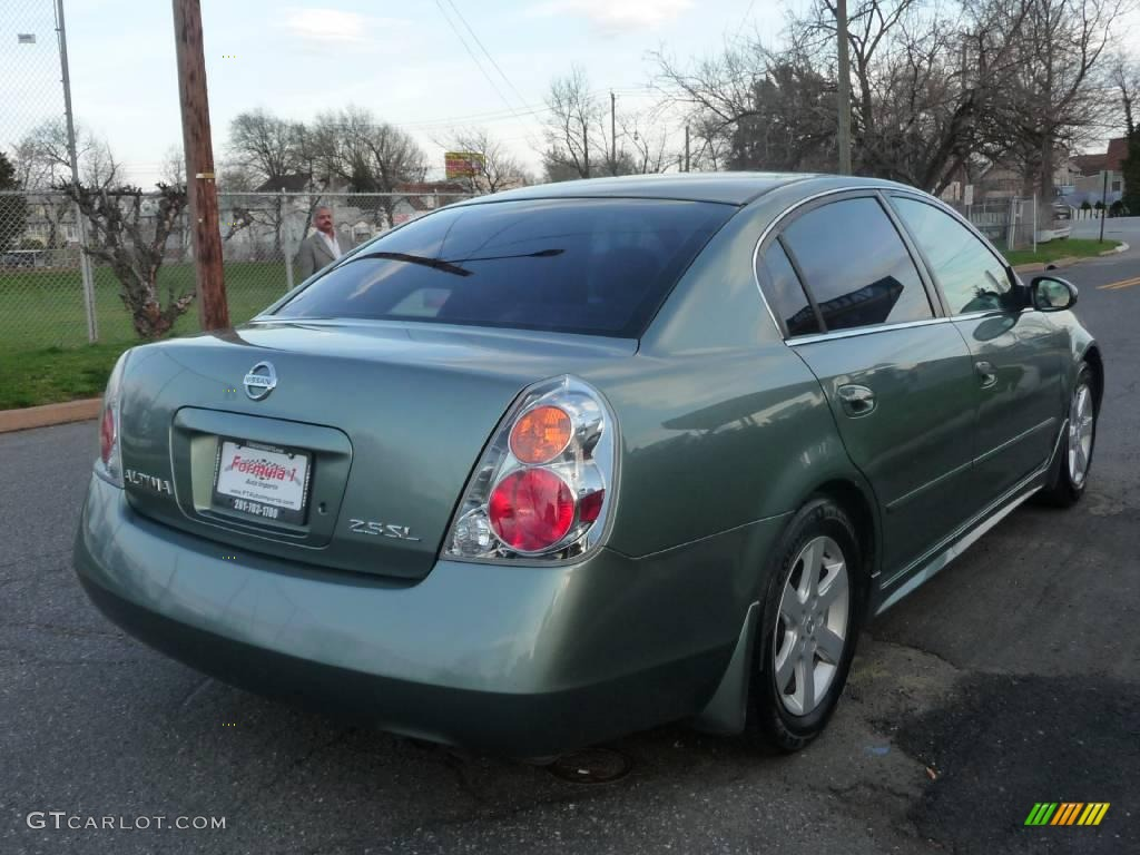 2003 mystic emerald green nissan altima 2 5 sl 7510671 photo 5 car color. Black Bedroom Furniture Sets. Home Design Ideas