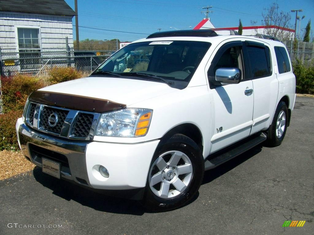 2005 blizzard white nissan armada le 7475617 car color galleries. Black Bedroom Furniture Sets. Home Design Ideas