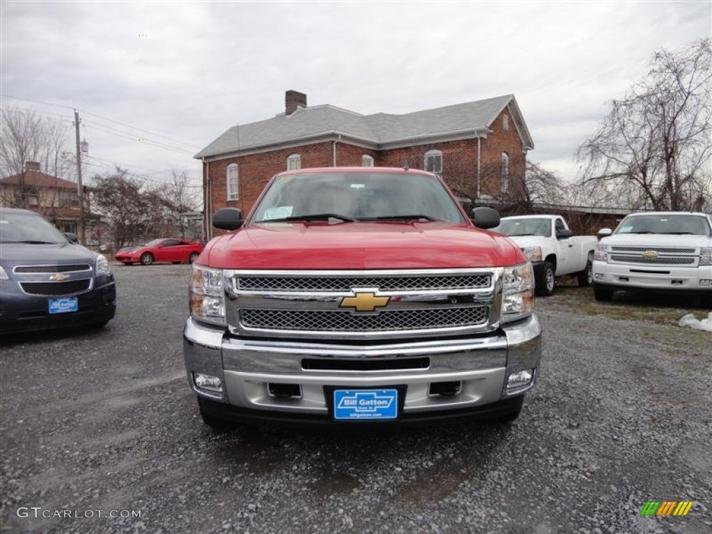 2013 Silverado 1500 LT Extended Cab 4x4 - Victory Red / Ebony photo #2