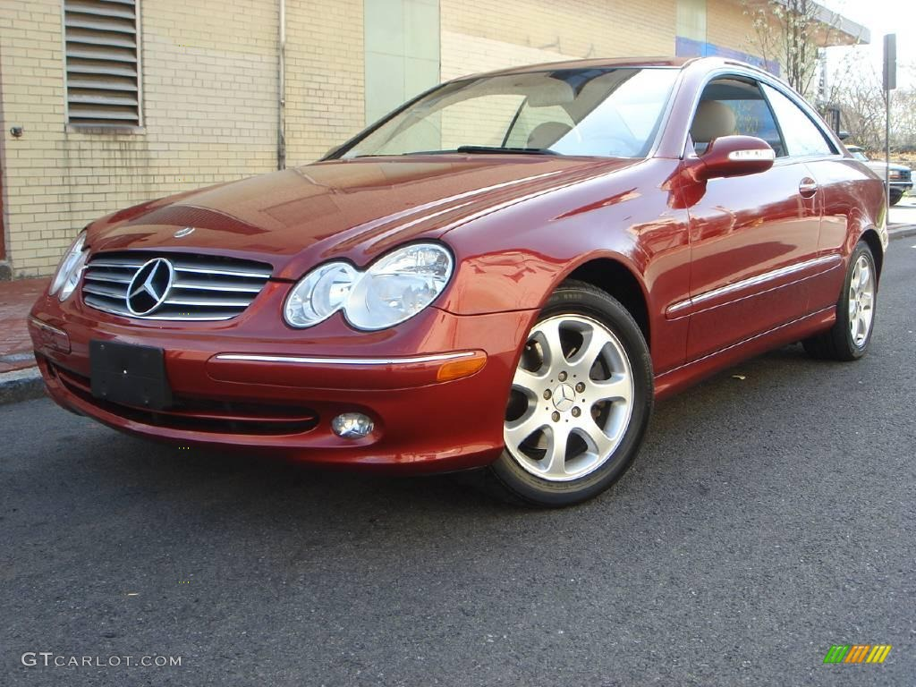2004 firemist red metallic mercedes benz clk 320 coupe. Black Bedroom Furniture Sets. Home Design Ideas