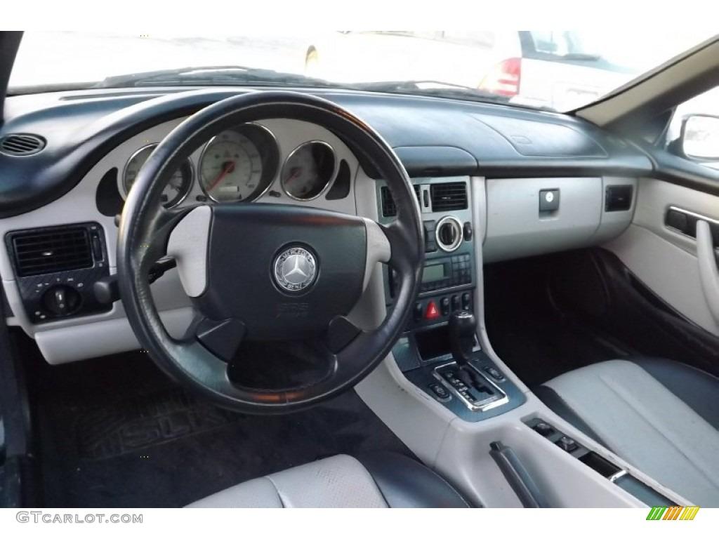 2000 Mercedes-Benz SLK 230 Kompressor Limited Edition Roadster Oyster/Charcoal Dashboard Photo #75365466