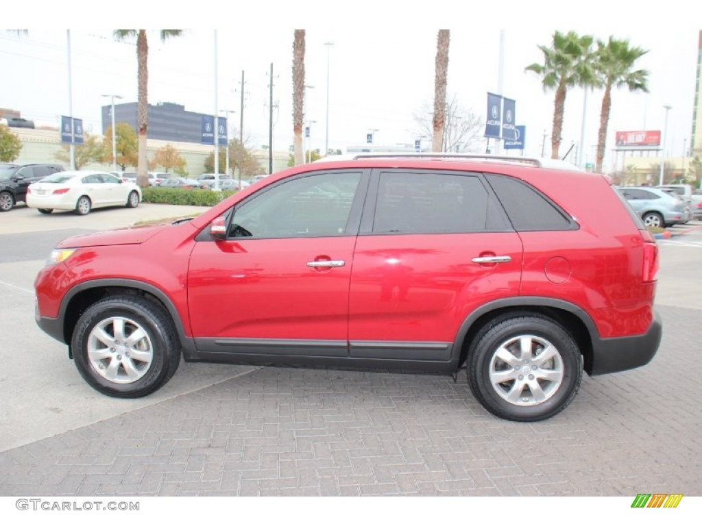 2011 Sorento LX - Spicy Red / Beige photo #5