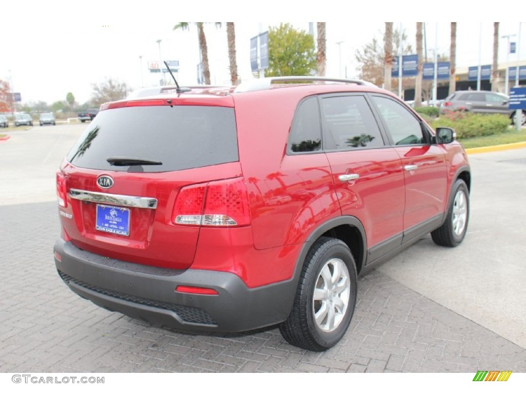 2011 Sorento LX - Spicy Red / Beige photo #8