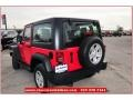 2012 Flame Red Jeep Wrangler Sport 4x4  photo #3