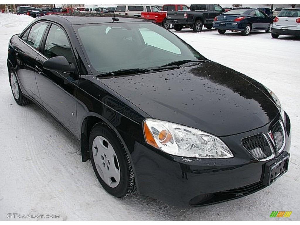 Black 2008 Pontiac G6 Value Leader Sedan Exterior Photo