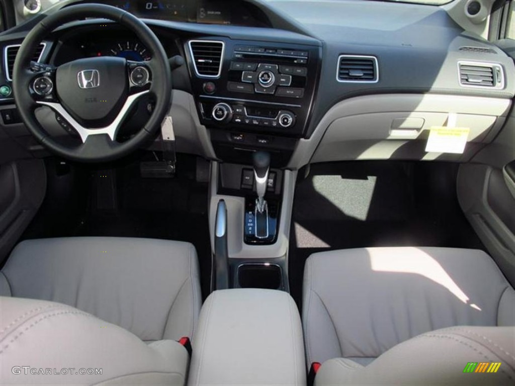 2013 Honda Civic EX L Sedan Gray Dashboard Photo #75401298